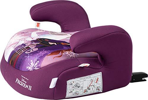 Disney Frozen Seggiolino Auto Booster Alzabimbo Isofix Frozen Anna Elsa Gruppo 3 (Per Bambini 22-36 Kg), Lilla
