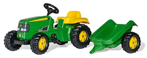 Rolly Toys 012190 - rollyKid John Deere (mit Anhänger, Drehschemellenkung, Alter 2,5 - 5 Jahre, Heckkupplung)