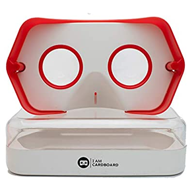 DSCVR VR Headset   The Best Virtual Reality Goggles for iPhone and Android   Google Cardboard v2 Inspired   Cool and Unique Travel Gift Under 25 Dollars from I AM CARDBOARD®