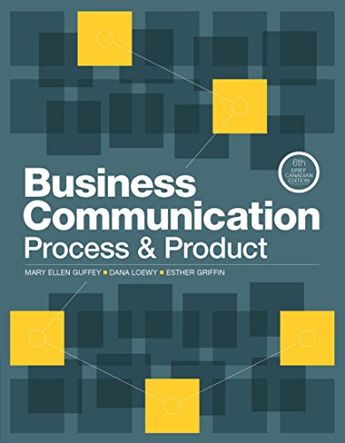 Business Communication: Process & Product: Brief