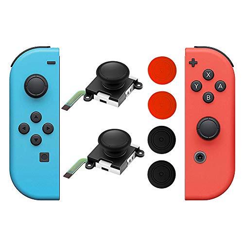 SOONAN 2 piezas de joystick analógico 3D reemplazos de palos de pulgar...