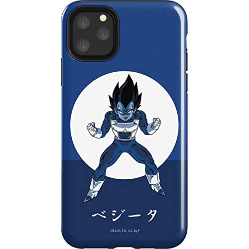 Skinit Impact Phone Case Compatible with iPhone 11 Pro Max - Officially Licensed Dragon Ball Z Vegeta Monochrome Design Louisiana