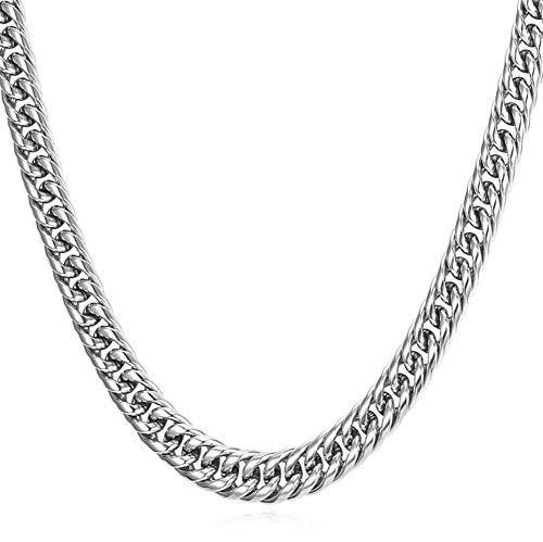 Tonpot Modische Herren-Halskette, Titanstahl, 9 mm dick, Hip Hop Stil, Elegante Herren-Halsketten