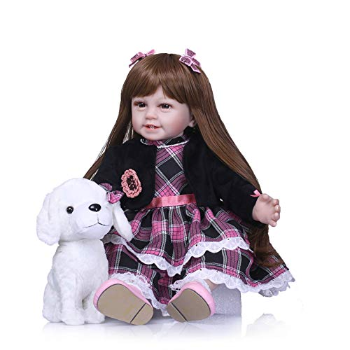DishyKooker 60 cm simulatie pop handgemaakte siliconen meisjes levensechte realistische speelhuisje speelgoed kind comfort helper