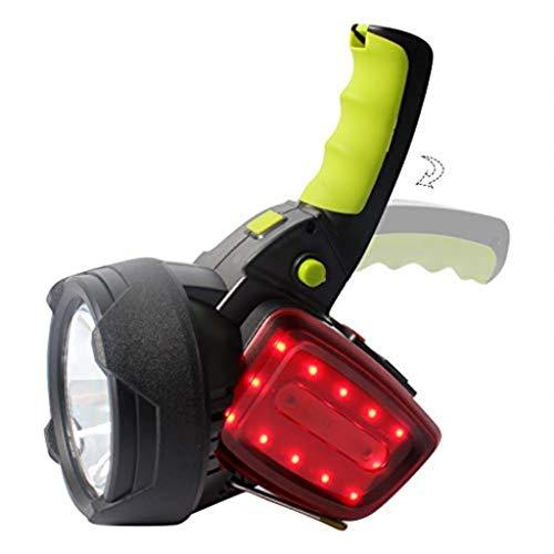 CS-LJ Lampe de Chasse LED Rechargeable Portable Light Portable Projecteur Haute Puissance Extérieure Imperméable Multifonction Camping Lumière