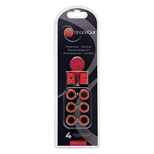 Amortiguadores ShockOut-Padel - Sistema antivibratorio para raquetas de pádel - Color rojo