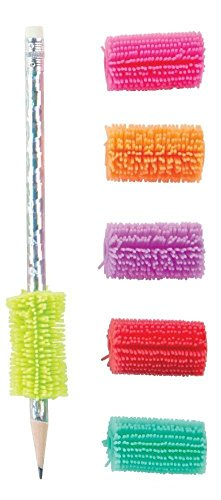 Geddes Kushy Pen/Pencil Grips, Pack of 5, All Different Colors
