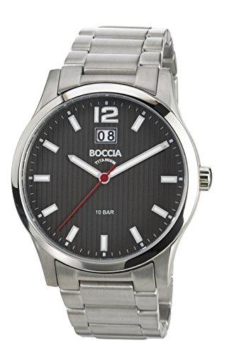 Boccia Herren-Armbanduhr XL Titanium Analog Quarz Titan 3580-02