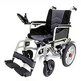 Chair-yd Rueda antivuelco Plegable eléctrica Ligera y Ajustable, Joystick Inteligente, eléctrico o Usado como Silla de Ruedas Manual Ancho 45 cm con Controlador