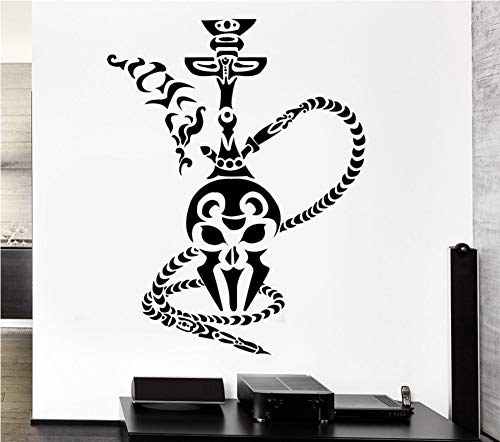 Relovsk Shisha Wandaufkleber Shisha Rauch Rauchen Arabisch Cafe Vinyl Aufkleber Dekoration Wohnzimmer Abnehmbare Kunstwand 42 Cm X 55 Cm