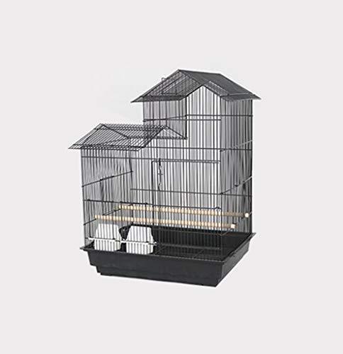 Space- rack Z-W-Dong Grandi Gabbie Pappagallo, Criceto Chinchilla Guinea Pig Gabbie Finestra di visualizzazione del Nero dell'Acciaio Inossidabile House Style Voliere Uccelli/Gabbie