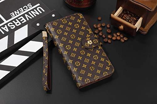 Rcase Wallet Case voor Samsung Galaxy Note 9 Elegant Grid Lederen Bifold Monogram Magnetische kaartsleuf met riem voor Samsung Galaxy Note 9 6.4