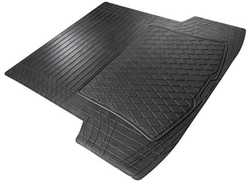 Walser 28057 Kofferraummatte Safeguard, Größe L 130 x 120 cm, universal zuschneidbare Gummimatte, universeller Kofferraumschutz, Antirutschmatte