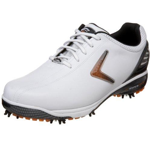 Callaway Men's Hyperbolic Golf Shoe,White/Black,US Men's 10 M