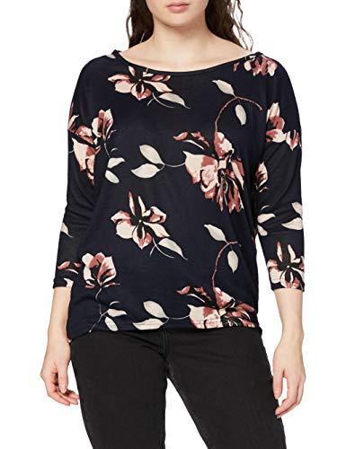 ONLY Damen onlELCOS 4/5 TOP JRS NOOS Pullover, Mehrfarbig (Night Sky AOP: Flowers Rose), 36 (Herstellergröße: S)