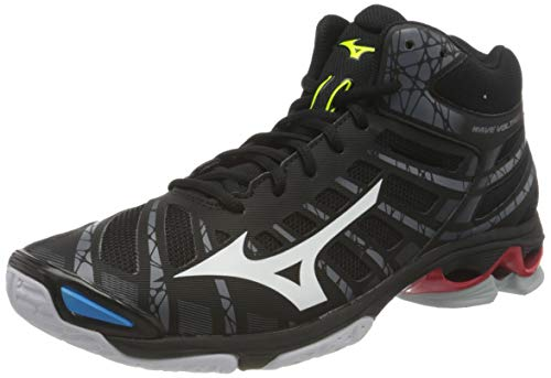 Mizuno Herren Voltage Mid Volleyball-Schuh, Black/White/199C, 44.5 EU