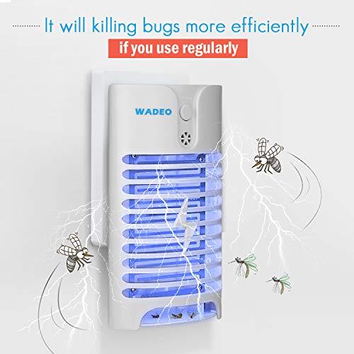 HK Elektrischer Insektenvernichter Lamp, UV Insektenvernichter, Moskito Killer vor Elektrischem Schlag Tragbare Mückenfalle Für Innen Schlafzimmer Gärten, Drinnen und Draußen…