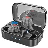 Otufan Bluetooth Earbuds Wireless Earbuds Bluetooth Headphones iPX7 Waterproof 3D Stereo HiFi Sound Wireless Earphones Bluetooth Headset with Charging Case (Black)