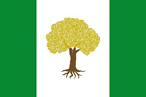 magFlags Bandera Large Municipio de Olivares de Júcar Castilla-La Mancha | Bandera Paisaje | 1.35m² | 90x150cm