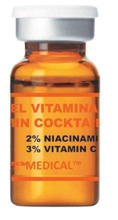 Vitamin Cocktail - Siero sterile con Vitamina C per Microneedling (Derma Pen) e Mesoterapia (Dermaroller) Trattamenti - Siero Microneedling professionale. Fiala con 5ml