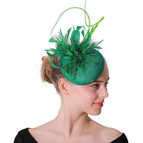 Sombrero del fascinador de la pluma de las mujeres con el sombrero del...