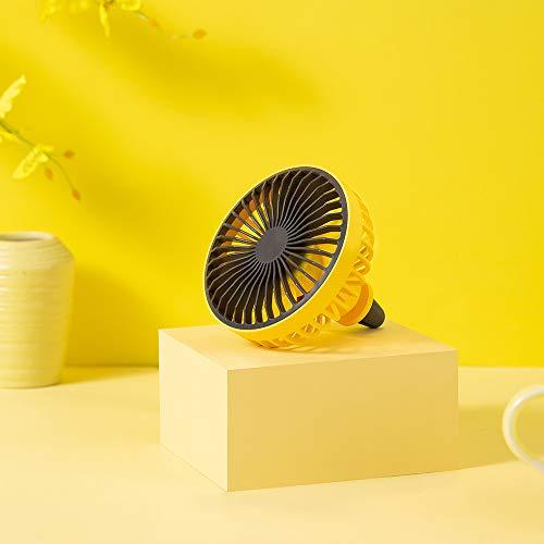 Coche eléctrico Fanfan coche Salida aire l coche mini ventilador usb auto show amarillo Aplicar para Sedan Vehículo Camión RV SUV BarcoAutopartes