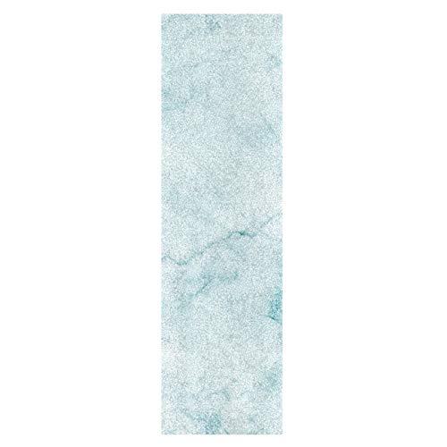 Piedra De Mármol De Granito Azul De Arte Monopatín Papel de Lija Antideslizante Hoja Cinta de Agarre Lijas para Patineta Scooter Etiquetas engomadas (84 x 23 cm)