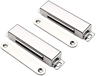 """Best Mousike Magnetic Door Catch,70lb Stainless Steel Cabinet Door Magnets with Strong Magnetic for Kitchen Cupboard Wardrobe Closet Cabinet Door Drawer Latch (3.8""""70 lbs(2 Pack)) Review"""