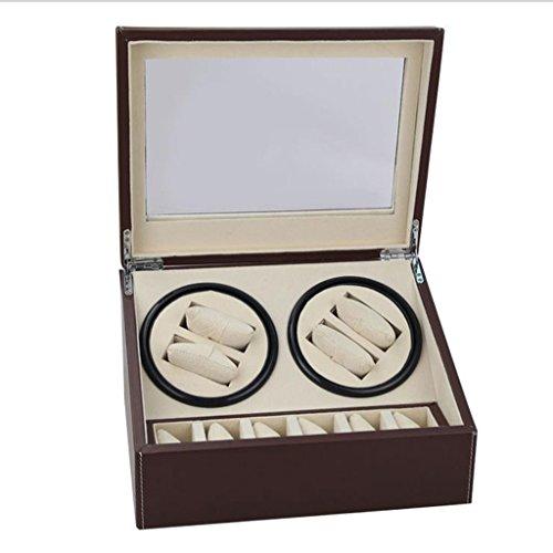 LDDLDG Caja giratoria para Relojes Automático Reloj mecánico/Caja de Reloj automática/Producción Artesanal 6 + 4 Lugares