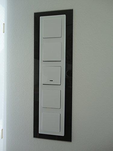 Schalterblende 4-fach - schwarz