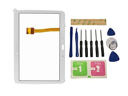Flügel per Samsung Galaxy Tab 3 Gt-P5210 P5200 P5210 Touch Screen Digitizer Bianco Schermo Vetro (Senza LCD Display) di Ricambio e Strumenti Gratuiti