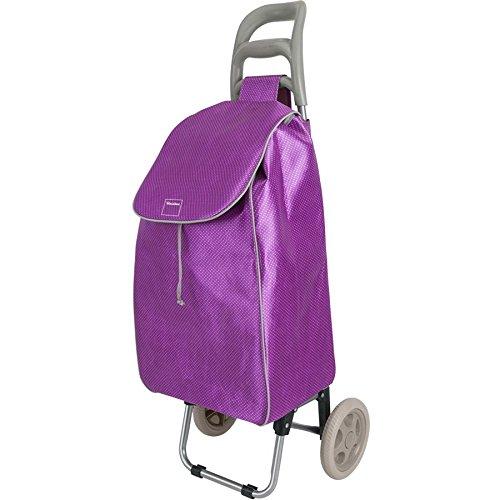 Metaltex Shopping Trolley Aster 45 Liter in violett, Metall, 45 x 35 x 25 cm