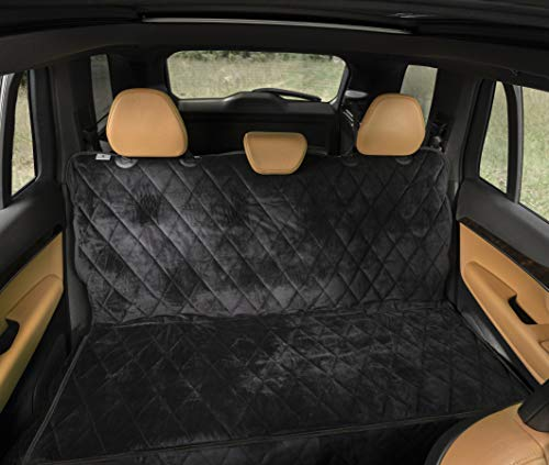 Plush Paws Easy-to-Install Velvet Seat Cover for Pet Protection (Charcoal)