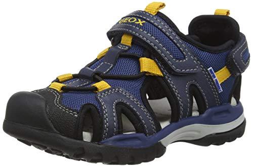 Geox Jungen J Borealis Boy A Geschlossene Sandalen, Blau (Navy/Dk Yellow C4229), 30 EU