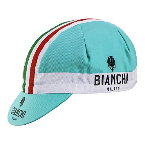 Bianchi Milano Unisex Fahrradkappe, Neonfarben, Unisex, Radkappe, 01698604200C000.07 4300, Celeste, Einheitsgröße