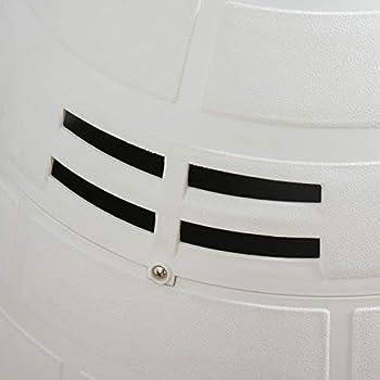 Pawhut Niche Chien Niche Igloo Maison pour Chat dim. 80L x 68l x 53H cm polypropylène Blanc Noir