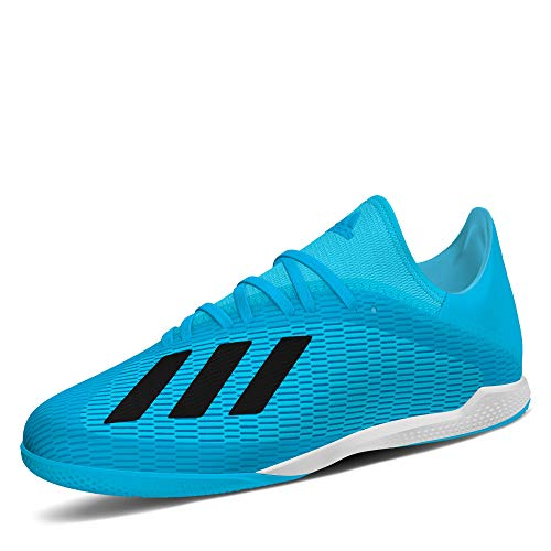 adidas Performance X 19.3 Indoor Fußballschuh Herren hellblau/schwarz, 10.5 UK - 45 1/3 EU - 11 US