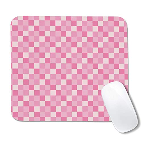 Camo Pink Pop Square Checkerboard Non-Slip Rubber Base Mouse Pad, Suitable for Laptops, Coffee Pads, Scratch-Resistant, Non-Slip, Waterproof, (20.3 22.7cm)