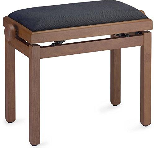 Piano bank met zwart fluwelen zitvlak