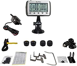 EEZTire-TPMS4B Real Time/24x7 Tire Pressure Monitoring System - 4 Anti-Theft Sensors + Booster, incl. 3-Year Warranty