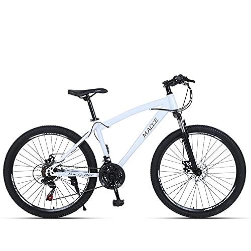 Bicicleta De Montaña De Bicicleta Adulta,Freno De Disco De 26 Pulgadas,Bicicleta De Montaña De Velocidad De Absorción De Golpes, Rueda De LAPO Blanco_26 Pulgadas 24 Velocidad,