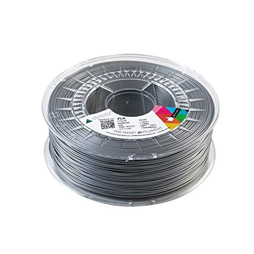 Smartfil PLA 1.75mm, Silver, 1000g Filamento para Impresión 3D de Smart Materials 3D, Plata