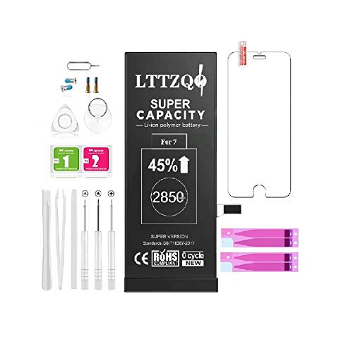 Kompatibel Mit iPhone 7 Akku 2850mah Mit 45% Mehr, Ersatz Mit Höherer Kapazität Als Andere Batterien, Batterie Mit Werkzeug Reparaturset 2021 Baujahr