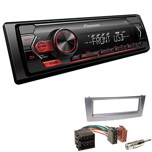 EHO Autoradio mit Einbauset passend für FIAT Grande Punto inkl Pioneer MVH-S120UB 1 DIN USB AUX