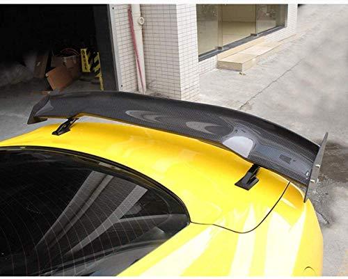 HYCy Adecuado para Ford Mustang 2015-2018, alerón Trasero de Fibra de Carbono, alerón Trasero, alerón Trasero para Maletero, Tapa de Labios, se Requiere perforación