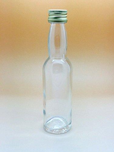 40 lege mini glazen flessen 20 ml glazen flesjes kleine flessen incl. Schroefdop likeurflessen om zelf te vullen jeneverflessen azijnflessen oliefles graan jenever glas flessen goud