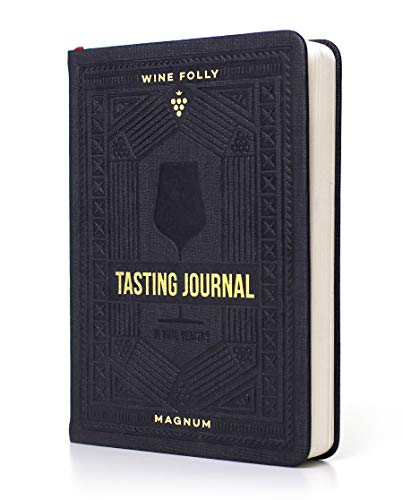 "Wine Journal by Wine Folly - Guided Wine Tasting Notes (5"" x 7"" B6 Notebook) - Features 4 Step Tasting Method, Wine Color Reference Card, and Page Marker"