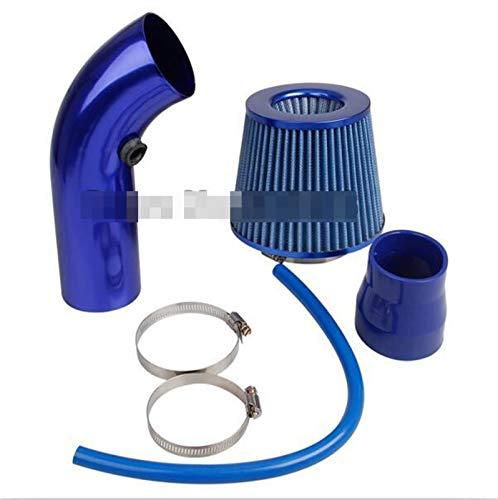 JXXDDQ Universal Car Frío Air Filtro de admisión Alumimum Kit de inducción Sistema de Manguera de tubería Filtro de Aire Azul Rojo 76mm / 3 Pulgadas Cabeza de Hongo (Size : Blue Air Filter Kit)