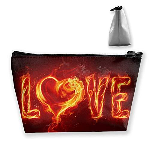 Bolsa de cosméticos para mujer, bolsa de maquillaje de viaje, mini monedero con cremallera para artículos de tocador, regalos perezosos (Te amo a la luna y la espalda)