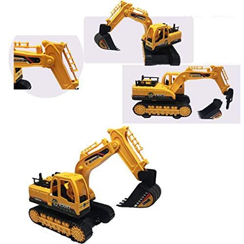Kisshes Excavadora inercial Vehículo de construcción para niños Juguete excavador de rotación de 360 Grados Circuitos y playsets para Coches de Juguete